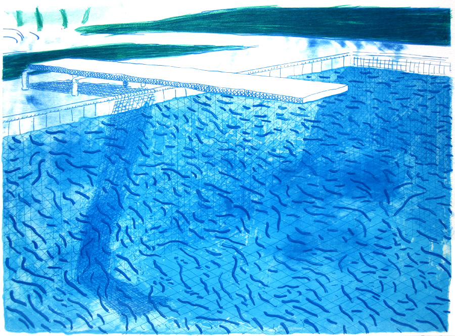 David hockney s pool paintings capture the best of socal - David hockney swimming pool paintings ...